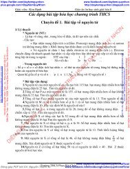 Giáo án ôn học sinh giỏi hóa 8 & Giáo án hóa 9 kì i chuẩn 2016 2017 - Trường THCS Phan Bội Châu - GV Nguyễn Thị Kim Hạnh
