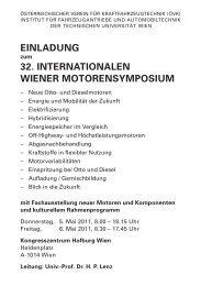 32. internationalen wiener motorensymposium - Österreichischer ...