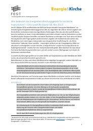 Lesehilfe zum Energiedienstleistungsgesetz für kirchliche Institutionen