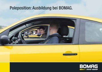 Poleposition: Ausbildung bei BOMAG.