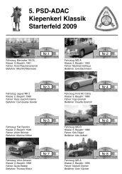 5. PSD-ADAC Kiepenkerl Klassik Starterfeld 2009