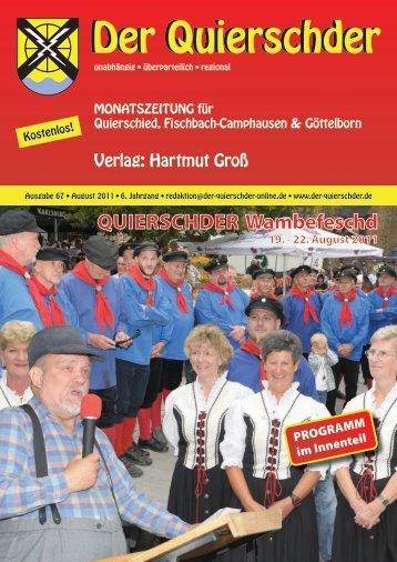 "Das ""Wambefescht"" als Berg- bzw. Kirchenfest - Der Quierschder"