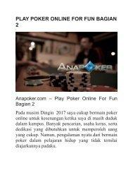 PLAY POKER ONLINE FOR FUN BAGIAN 2