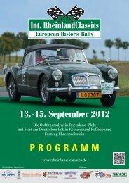 13.-15. September 2012 PROGRAMM - Rheinland Classics