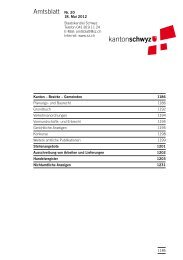 Amtsblatt Nr. 20 vom 18. Mai 2012 (1019 - Kanton Schwyz