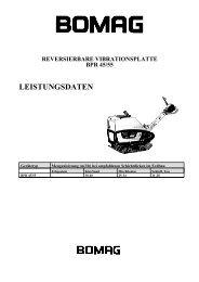 reversierbare vibrationsplatte bpr 45/55 leistungsdaten - Bomag
