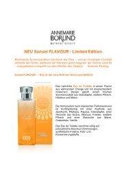 NEU Sunset FLAVOUR - Limited Edition - Annemarie Börlind