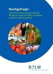 Argumentationsleitfaden - Bund Ökologische Lebensmittelwirtschaft