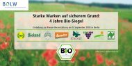 4 Jahre Bio-Siegel - Bund Ökologische Lebensmittelwirtschaft