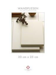 Wandfliesen 20 x 25 cm