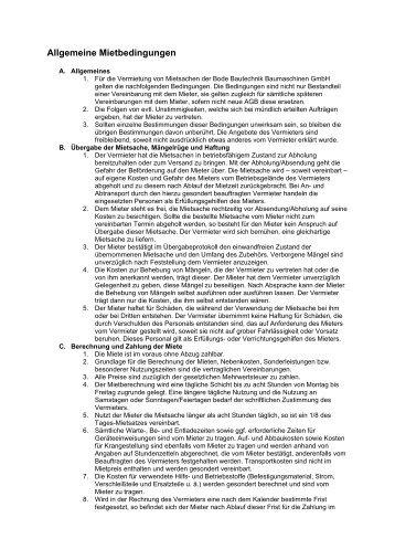 Allgemeine Mietbedingungen_14.06.05 - Bode Bautechnik ...