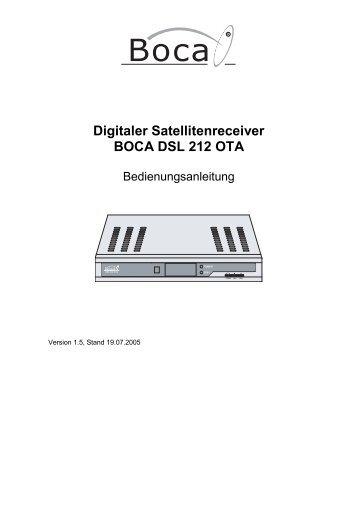 Digitaler Satellitenreceiver BOCA DSL 212 OTA
