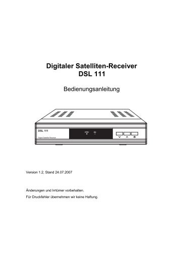 Digitaler Satelliten-Receiver DSL 111 - Boca
