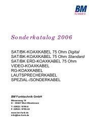 SAT/BK - KOAXIALKABEL 75 Ohm - bm-funk.de