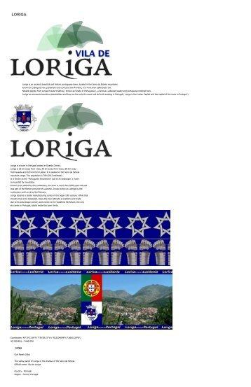 Extratos da obra do historiador António Conde sobre a história da vila de de Loriga - Excerpts of the work of the historian António Conde about the town of history of Loriga