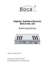 Digitale Satelliten-Receiver - Boca