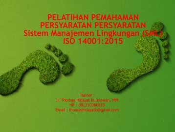 MODUL  ISO 14001 2015  by thomas hidayat k