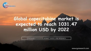 Global capecitabine market is expected to reach 1031.47 million USD by 2022