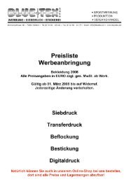 Verkaufsunterlagen 2008 - Blue Tex Textil-Mode GmbH