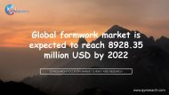 Global formwork market is expected to reach 8928.35 million USD by 2022