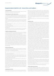 bluepoint medical GmbH & Co. KG – General Terms and Conditions