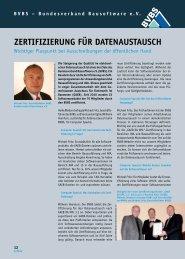 ZertifiZierung für DatenauStauSch - Blödorn PR