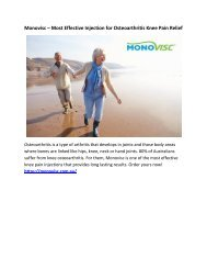 Monovisc – Most Effective Injection for Osteoarthritis Knee Pain Relief