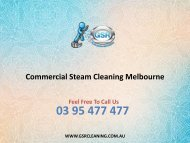 Commercial Steam Cleaning Melbourne