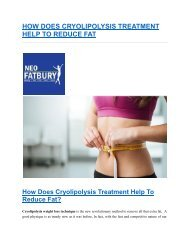 Best Cryolipolysis Treatment in Hyderabad For Fat Reduction - neofatburyt