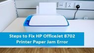 1-800-597-1052 How to Fix HP OfficeJet 8702 Printer Paper Jam Error