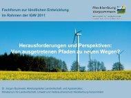 """Projekt """"Dorf im Dorf"""", Gemeinde Dobbertin,  Landkreis Parchim"""