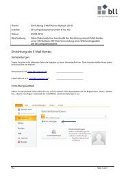 Microsoft Outlook 2007/2010 - bll computersysteme GmbH & Co. KG