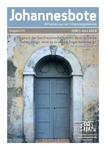 Johannesbote #179 Juni | Juli 2018