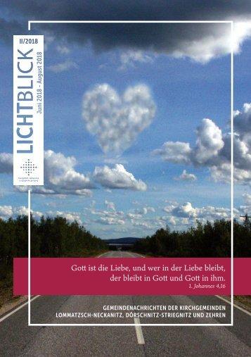 Lichtblick - Juni bis August 2018