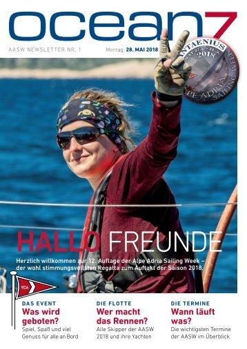 Alpe Adria Sailing Week 2018 – Tag 1, 28.5.