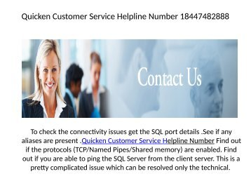 Quicken Customer Service Helpline Number 18447482888