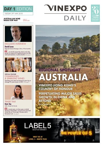 Vinexpo Daily 2018 - Day 1 Edition