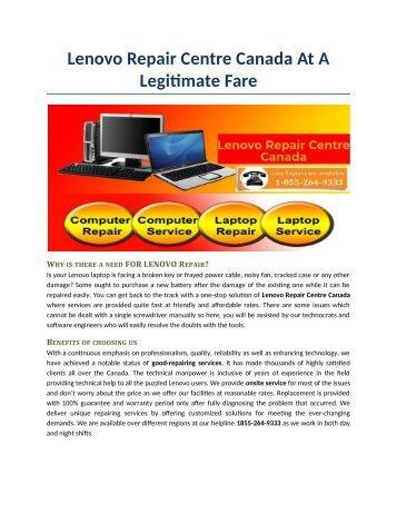 Lenovo Repair Centre Canada At A Legitimate Fare