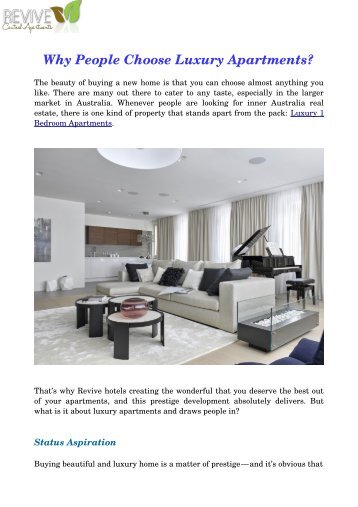 Why People Choose Luxury Apartments?