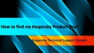 How to find my Kaspersky Product Key