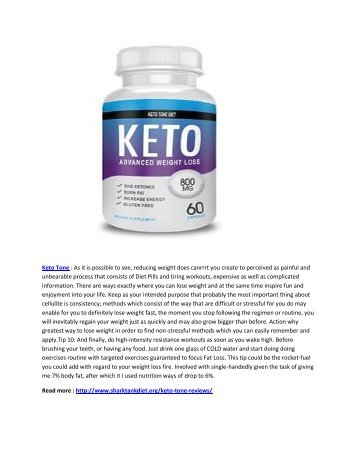 Keto Tone : Get Slim and Toned Body Naturally
