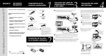 Sony KZ-32TS1E - KZ-32TS1E Guide d'installation Espagnol