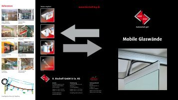Mobile Glaswände - R. Bischoff GmbH + Co. KG