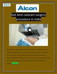 Get Best Cataract Surgery procedure in India