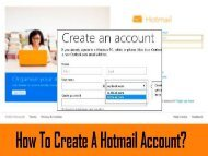How to Create a Hotmail Account? 1-800-213-3740