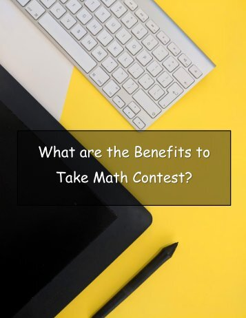 What are the Benefits to Take Math Contest