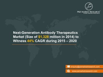 Next-Generation Antibody Therapeutics Market Research Report