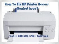 Call 1-800-608-5461  To Fix HP Printer Access Denied Issue