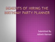 Benefits Of Hiring The Birthday Party Planner