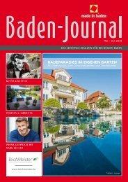Baden-Journal Mai - Juli 2018